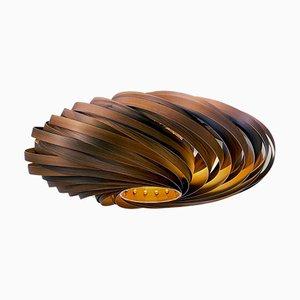 Veneria Deckenlampe aus satiniertem Nussholz von Manuel Döpper für Gofurnit