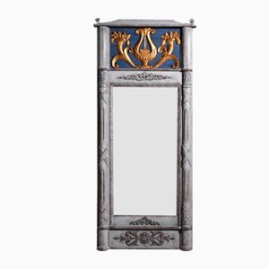 Gustavian Mirror with Gilt Carvings and Glass, 1830s
