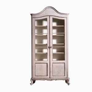 Scandinavian Bookcase with Glass, 1830s