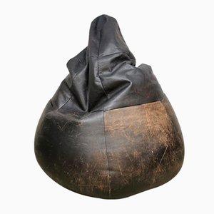 Vintage Brown Leather Beanbag from De Sede