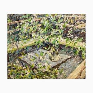 Georgij Moroz, Wild Cherry Blossom Flowers, Oil on Canvas, 1994
