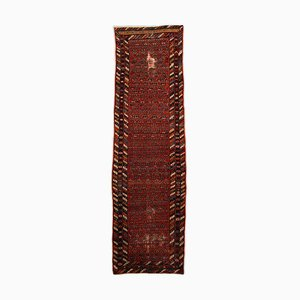 Patterned Malayer Light Red Rug with Border