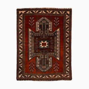 Geometric Kazak Dark Brown Rug with Border