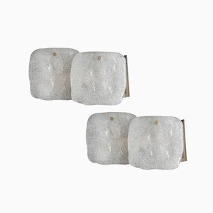 Frosted Glass Sconces by J.T. Kalmar for Kalmar, Set of 2