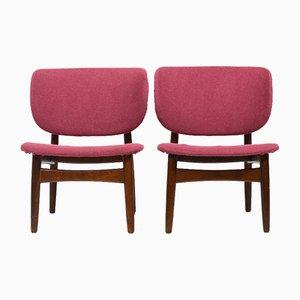 Dänische Sessel mit Schalen Rückenlehnen, 1950er, 2er Set