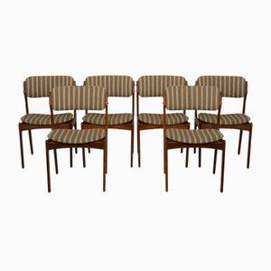 OD49 Esszimmerstühle aus Palisander von Erik Buch, 1960er, 6er Set