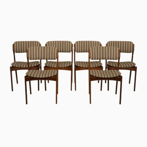 Rosewood OD49 Dining Chairs by Erik Buch, 1960s, Set of 6