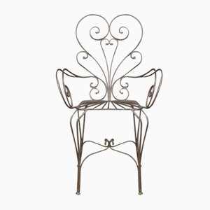 French Iron Armchairs, Set of 4