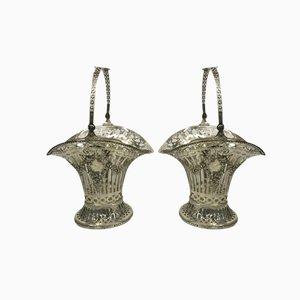Cesti per frutta antichi in argento, set di 2