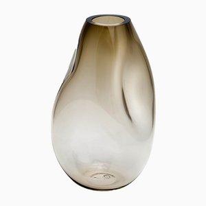 Supernova IV Smoke L Vase in Silber von Simone Lüling für Eloa