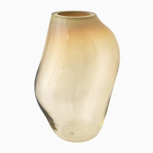 Bernsteinfarbene Supernova IV XL Vase von Simone Lüling für Eloa