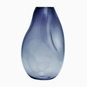 Vase Supernova IV Bleu Fumé M par Simone Lueling pour Eloa