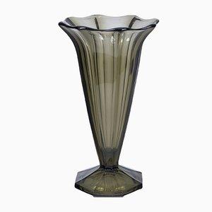 Vase Art Déco en Verre, France