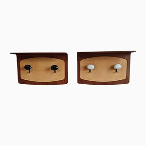 Shelves with Hooks by Franco Campo & Carlo Graffi, Italy, 1950s, Set of 2