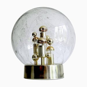 Table Lamp in Glass & Brass from Doria Leuchten, 1970s