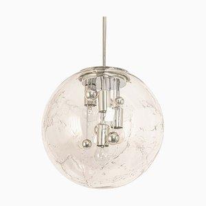 Große Sputnik Kugel Hängelampe von Doria Leuchten, 1970er