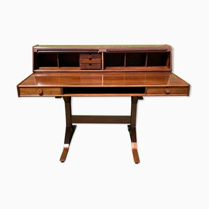 Italian Rosewood 530 Writing Desk by Gianfranco Frattini for Bernini, 1950s