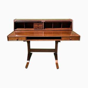 Italienischer 530 Schreibtisch aus Palisander von Gianfranco Frattini für Bernini, 1950er