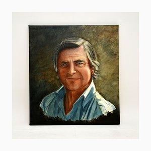 Vintage Self Portrait Oil Painting by John Mackay