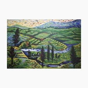 Landschaftsmalerei auf Leinwand, 2000er