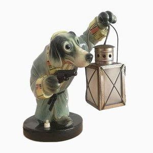 Limited Edition Portuguese Ceramic Table Lamp from Frutuoso, 1940s