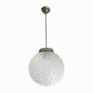 Large Mid-Century Bubble Glass Pendant Lamp, 1960s