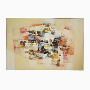 Abstraktes Gemälde auf Leinwand, 2000er
