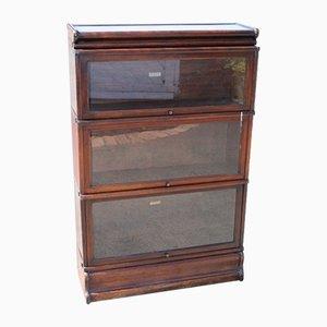 Mahogany 3-Shelf Bookcase from Globe Wernicke, 1920s