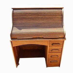 Single Pedestal Rolltop Desk in Oak, 1920s