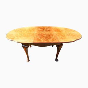Walnut Dining Table with One Leaf, 1920s