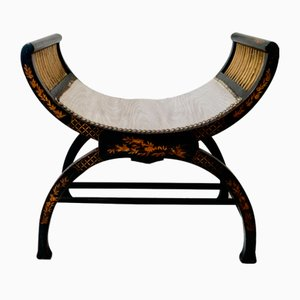 Antique Empire Chinoiserie Stool