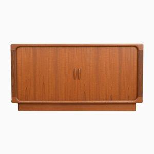 Mid-Century Danish Teak Sideboard with Tambour Doors from Dyrlund, 1960s