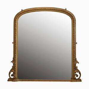 Frühviktorianischer Overmantel Spiegel