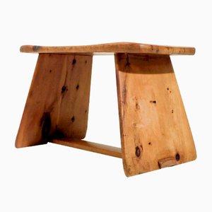 Schweizer Vintage Holzhocker oder Beistelltisch