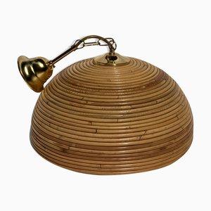Pencil Reed Rattan Bambus Lampe