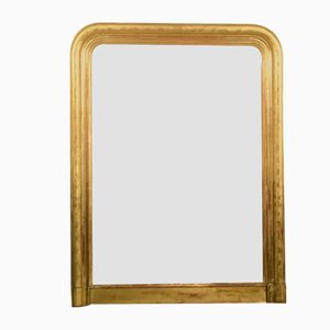 Louis Philippe Mirror in Wood and Stucco Gilded with Gold Leaf