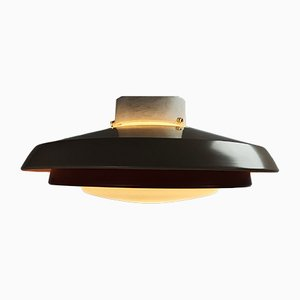 Mid-Century Ceiling Lamp in Opaline Glass from Philips, 1960s