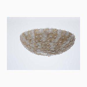 Murano Glas Deckenlampe von Flavio Poli für Seguso, 1950er