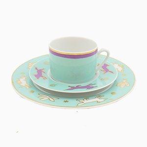 Porcelain Tea Trio by Louise Gibb for Ritzenhoff, 1994, Set of 3