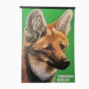 Póster del zoológico Tierpark Berlin original, años 80