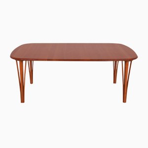 Mid-Century Cherrywood Coffee Table by Severin Hansen for Haslev Møbelsnedkeri, 1960s