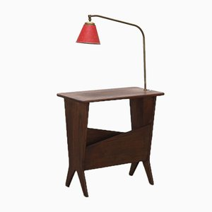Reconstruction Side Table with Reading Lamp, 1950s