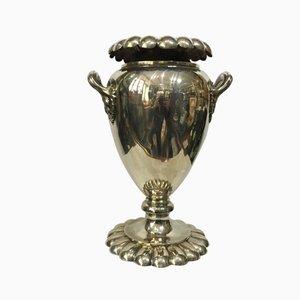 Silberner Art Deco Champagner Kübel