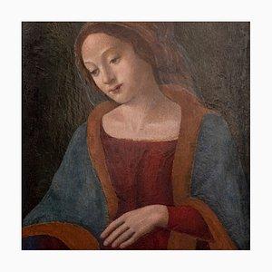 Pintura de la Virgen María sobre madera, Florencia, década de 1450