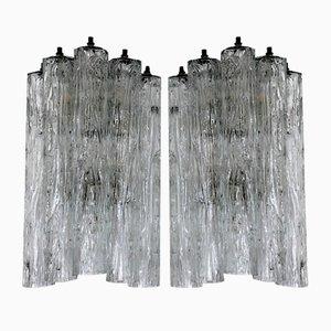 Corteccia Glass Sconces by Toni Zuccheri for Venini, 1960s, Set of 2