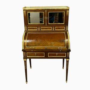 Louis XVI Bonheur du Jour Zylinder Schreibtisch aus Mahagoni