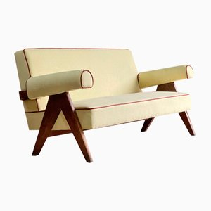 PJ-010806 Chandigarh Easy Lounge Sofa by Pierre Jeanneret, 1950s