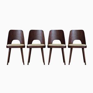 Mid-Century Sahco Fabric Dining Chairs by Oswald Haerdtl, 1950s, Set of 4