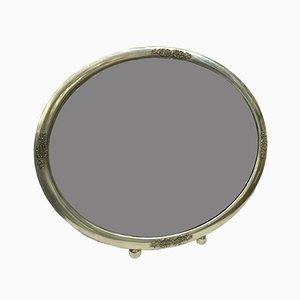 Art Deco Spiegel mit Silberrahmen