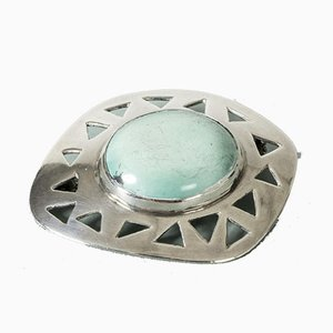 Silver and Turquoise Brooch from Michelsen